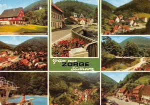 Germany Zorge Suedharz, Schwimmbad Brucke Bridge General view Pension Gasthaus