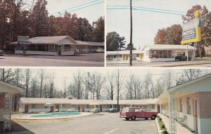 CALHOUN, Georgia, 1950-60s; 3-Views, Holiday Motel & Restaurant, Swimming poo...