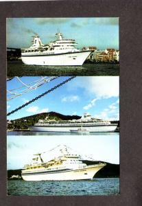 FL Royal Caribbean Cruise Ship Miami Florida Postcard MS Sun Viking Song Viking