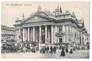 Belgium Bruxelles La Bourse Brussels Stock Exchange Postcard
