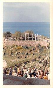 Ruins of Roman Temple, Non Postcard Backing, Byblos, Lebanon Postcard writing...