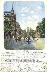 Krefeld Germany, Deutschland Postcard Rheinstrasse Krefeld Rheinstrasse
