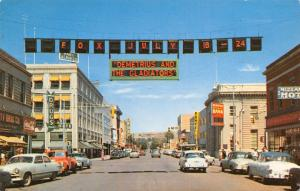 Billings Montana~Broadway Avenue~Fox July~Demetrius & the Gladiators~1950s Cars