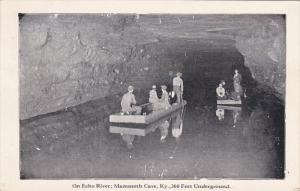 MAMMOTH CAVE, Kentucky, 1900-1910's; On Echo River