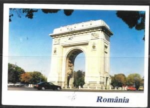 1995 Romania, Bucuresti, Arcul de Triumfa, mailed to USA