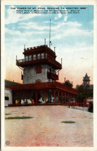 Postcard PA Pennsylvania Reading Tower at Mt Penn Unposted