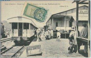 80157 -  MADAGASCAR -  Vintage Postcard -  TANANARIVE  Train Station  1909