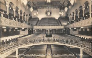 Detroit Michigan~St Aloysius Church~3 Levels~View from Main Altar~1920s RPPC