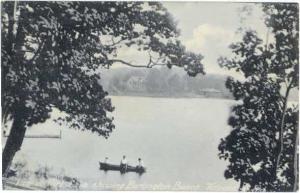 View of Flint Lake showing Burlington Beach, Valparaiso, Indiana, IN, !908 D/B