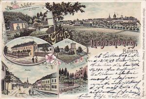Gruss aus Lichtenberg , Bayern , Germany , PU-1899