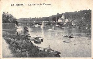 France La Marne Le Pont de la Varenne Bateaux River Boats Bridge Panorama