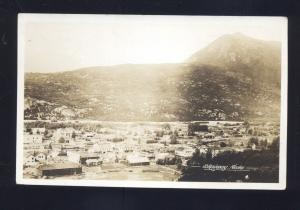 RPPC SKAGWAY ALASKA BIRDSEYE VIEW OF DOWNTOWN VINTAGE REAL PHOTO POSTCARD