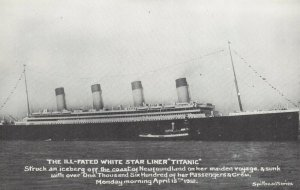 Postcard The Ill Fated White Star Liner Titanic, which Sank April 15th 1912 CA8