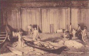 Washington Seattle Puget Sound Indian Winter Village Showing Plank House Wash...