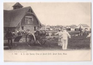 U.S. Life Saving Crew Beach Drill Brant Rock Rotograph 1905