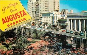 Augusta Georgia~~Greetings~Flower Garden~Haverty's Furniture Store 1967 Postcard