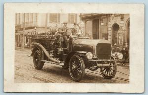 Postcard PA Harrisburg United No 3 Fire Truck RPPC Real Photo c1912 S15