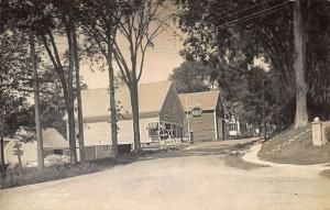 Damariscotta Mills ME Red & White Store Gulf Gas Station Real Photo Postcard