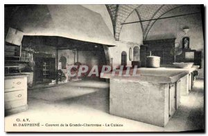 Old Postcard Dauphine Convent of the Grande Chartreuse Kitchen