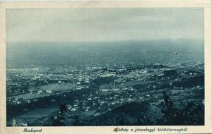 Hungary - Budapest, View from the Lookout Tower on Mt. John
