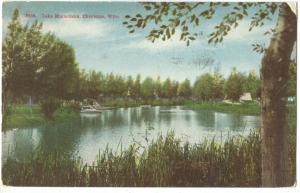 USA, Lake Minnehaha, Cheyenne, Wyoming, 1913 used Postcard