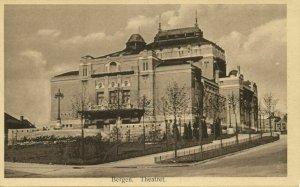 norway norge, BERGEN, Theateret Theater (1920s) Postcard