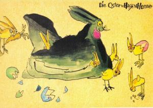 Art Postcard, Die Osterhasenhenne (1914) by Lyonel Feininger 84U