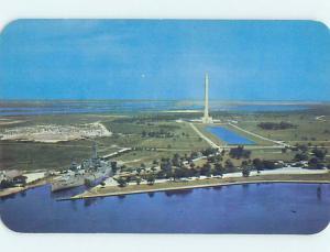 Unused Pre-1980 MONUMENT SCENE San Jacinto - Houston Texas TX F1736