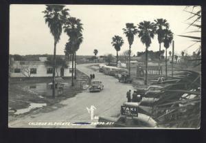 RPPC SENECA TAMS MEXICO 1940's CARS BUS VINTAGE REAL PHOTO POSTCARD COCA COLA