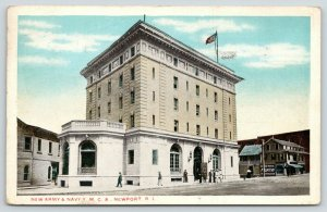 Newport Rhode Island~New Army & Navy YMCA~Lots of People @ Entrance~1920
