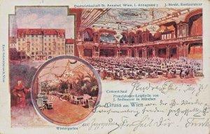 WIEN VIENNA AUSTRIA~CONCERT SAAL-WINTERGARTEN~1902 K SCHWIDERNOCH POSTCARD