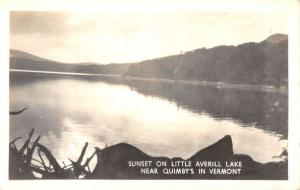 Little Averill Lake Vermont Quimbys Sunset Real Photo Antique Postcard K95320