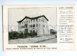 173602 ITALY VENISE LIDO PENSION Corne d'or advertising old