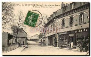 Creuse Old Postcard Camp of Courtine camp Avenue New Galleries TOP