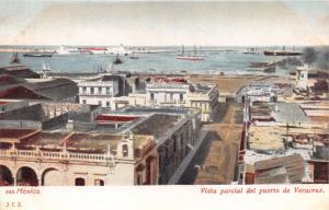 VERACRUZ MEXICO VISTA PARCIAL DEL PUERTO de VERACRUZ~J.C.S. PUBL POSTCARD 1900s