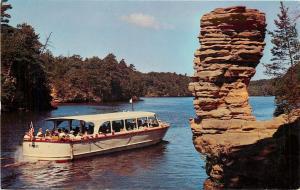 Wisconsin Dells Wisconsin~At Chimney Rock Upper Dells~Boat Tour~1950's Postcard