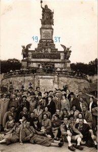 CPA AK Rudesheim Nationaldenkmal Real Photo on Postcard GERMANY (894938)