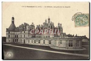 Old Postcard Chambord Castle View from the Chapel
