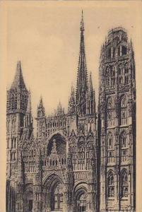 France Rouen Cathedrale Ensemble