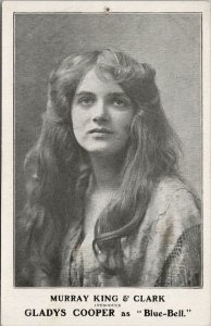 Gladys Cooper as 'Blue Bell' Murray King & Clark Postcard G83 *as is