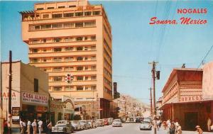 NOGALES, Sonora  Mexico    CALLE CAMPILLA  Roadside Hotel Fray Marcos   Postcard