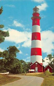 Assateague Island Virginia birds eye view Lighthouse vintage pc ZA440638