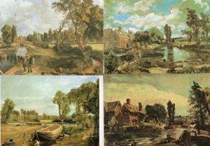 John Constable Flatford Essex Mill & Lock BoatBuilding Stour 4x Painting Post...