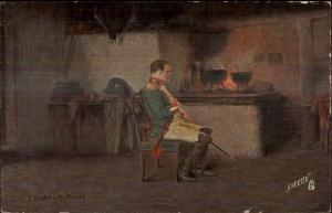 TUCK Oilette - Napoleon #2853 Textured Finish c1910 Postcard rpx