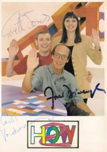 How 2 Carol Vorderman Fred Dinenage Gareth Jones Hand Signed Cast Photo
