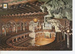 Postal 046310 : Sala de Concerts. Vista general. Palau de la Musica Catalana....