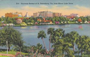 Business Section From Mirror Lake St Petersburg Florida Curteich