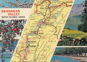 Map Of Okanagan Valley British Columbia Canada
