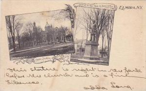Park Church and Statue of Rev. Thos,K. Beecher, Elmira, New York,00-10s