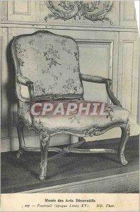 Old Postcard Musee des Arts Decoratifs Armchair (Louis XV)